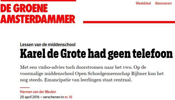Op de Open Schoolgemeenschap Bijlmer staat emancipatie centraal. Een reportage.